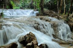 Greang Gavea water fall in Thailand - stock photo