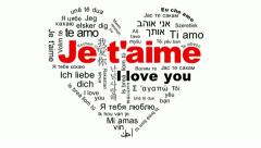 je t'aime - i love you - stock footage