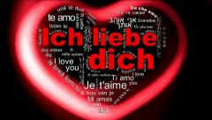 Ich liebe dich - i love you Stock Footage