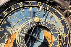 part of zodiacal clock - stock photo
