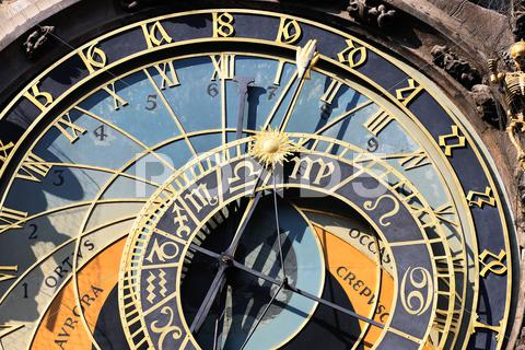 Stock photo of part of zodiacal clock