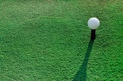 Stock Photo of Golf ball on Artificial grass.
