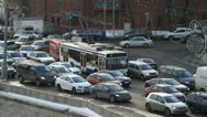 Traffic jam in Moscow Stock Footage