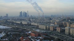 Panoramic view of Moscow city Stock Footage