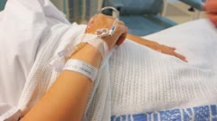 Intravenous cannula Stock Footage