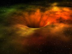 black hole - stock illustration