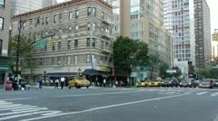 NYC Traffic E52 & 2nd Av wide clip 50fps Stock Footage
