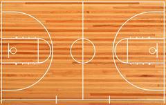 Stock Illustration of Basketball court