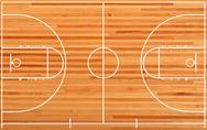 Basketball court Stock Illustration