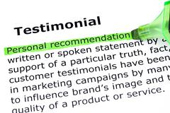 testimonial definition - stock photo