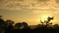 Perfect Beautiful Orange Morning Countryside Sunrise - stock footage