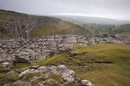 Limestone pavement, malham cove in yorkshire dales national park Stock Photos