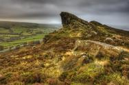 View of ramshaw rocks in peak district  national park Stock Photos