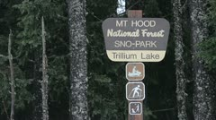 Mt. Hood National Forest Sign Stock Footage