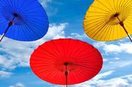 Traditional Thai umbrella Stock Photos