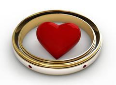Stock Illustration of engagement rings