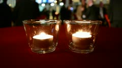 Candles on the table, religion diversity. Stock Footage