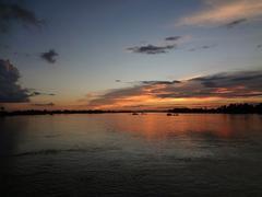 Mekong sunset Stock Photos