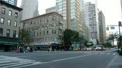 NYC Traffic E52 & 2nd Av wide clip Stock Footage