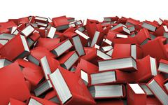 Books pile Stock Illustration