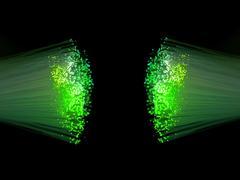 optic fibres - stock illustration