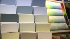 Colorful Designer Home Paint Swatches Samples Stock Video Footage HD Stock Footage