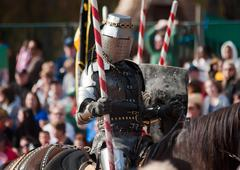 Armored joust knight Stock Photos