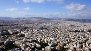 Stock Video Footage of Athens city, Greece, time lapse panorama