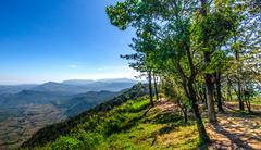 view of mountain - stock photo