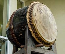 Stock Photo of old drum of chinese style