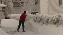 Blizzard Winter Storm Stock Footage