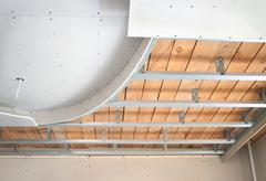 Suspended ceiling, consisting of plasterboard Stock Photos