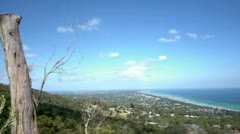 outlook to the beach - stock footage