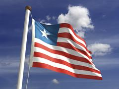 liberia flag - stock photo