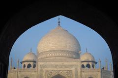 Taj mahal in agra india Stock Photos