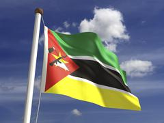 Stock Photo of mozambique flag