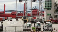 Cargo Port Operations Stock Footage