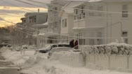Blizzard Record Snow fall Stock Footage