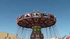 Amusement rides at Ventura County Fair 2012. California, USA. Stock Footage
