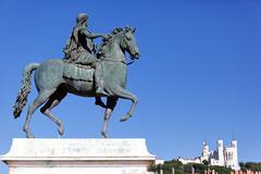 statue of louis xiv - stock photo