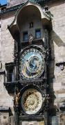 astronomical clock  in prague - stock photo
