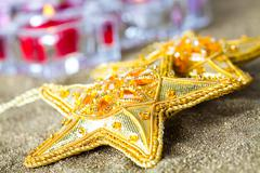 star decorations for christmas - stock photo