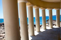 lighthouse in argostoli, kefalonia - stock photo