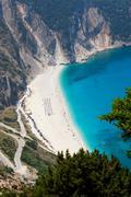 myrtos beach, kefalonia - stock photo