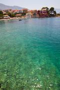 assos village, kefalonia, greece - stock photo