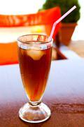 refreshing ice tea - stock photo