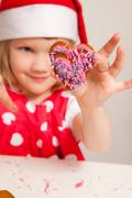 Decorated christmas gingerbread Stock Photos
