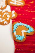 decorated christmas gingerbread - stock photo