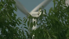 Windmills, Energy from the wind Stock Footage