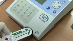 Blood levels tester Stock Footage